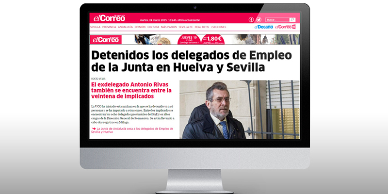 El Correo De Andalucía Chooses Iter Web For Its Online Consolidation